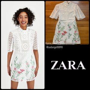 [BNWT]ZARA EMBROIDERED LACE DRESS